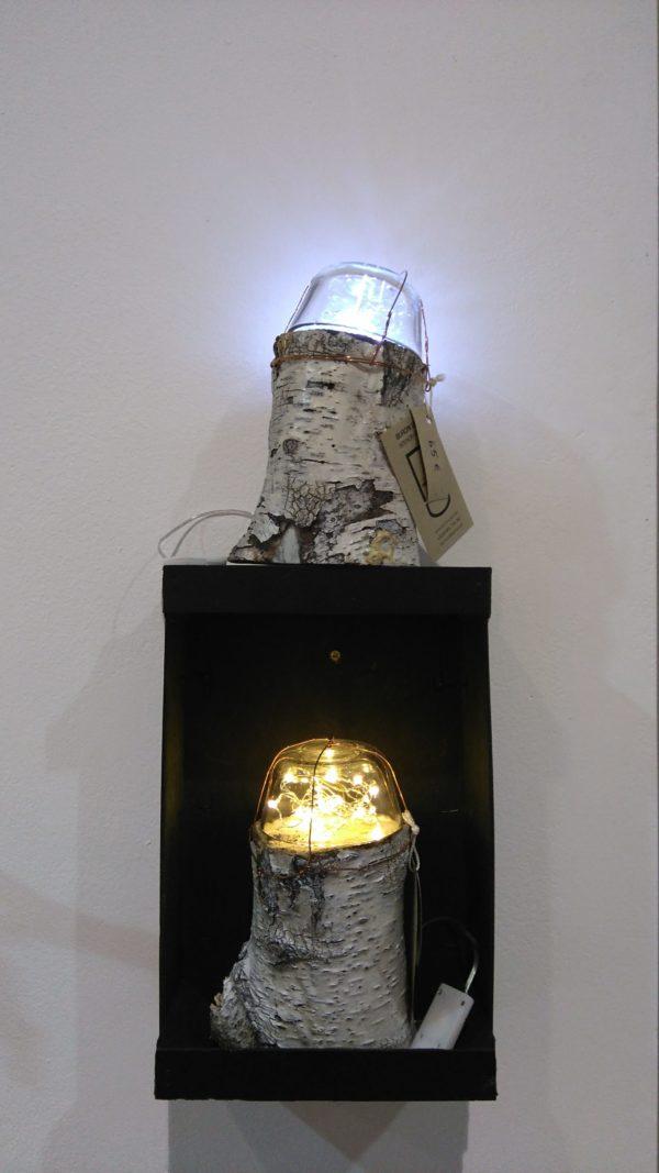 Dome Fairy Log Lamps 1 • Wood & Organic
