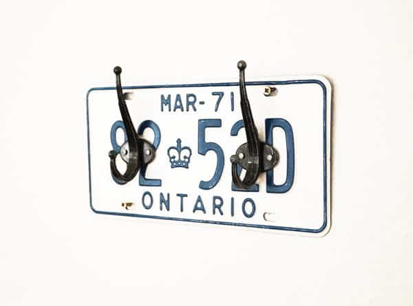 License Plate Coat Rack 1 • Home & décor