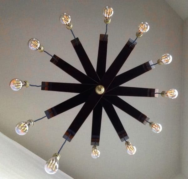 Lucciole, Recycled Wine Barrel Staves Large 12 Lights Chandelier 17 • Lamps & Lights