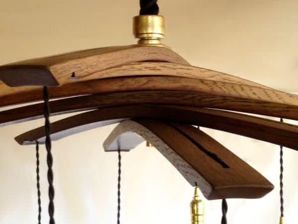 Lucciole, Recycled Wine Barrel Staves Large 12 Lights Chandelier 13 • Lamps & Lights