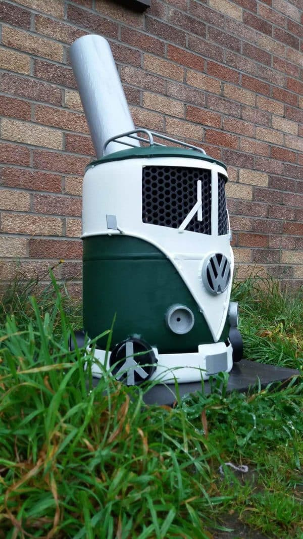 Volkswagen Campervan Log Burner 3 • Recycling Metal