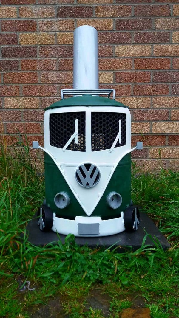 Volkswagen Campervan Log Burner 1 • Recycling Metal