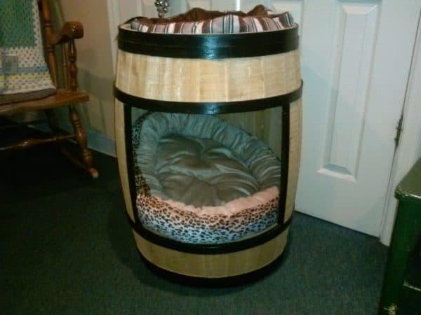 Wine Barrel Dog House 1 • Wood & Organic