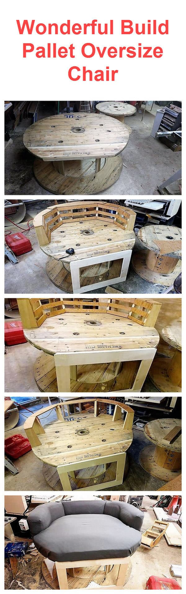 DIY Pallet Oversize Chair