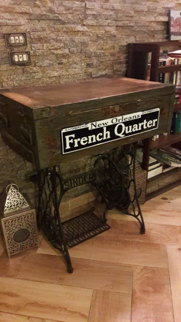 Ammunition Box Into Sewing Machine Table 1 • Recycled Furniture