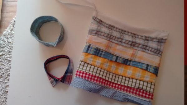 Clutch From Upcycled Collar Baby Shirts 5 • Clothing & Accessories