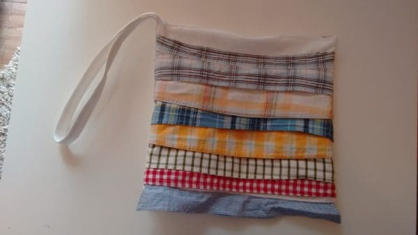 Clutch From Upcycled Collar Baby Shirts 1 • Clothing & Accessories
