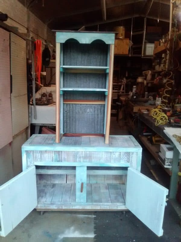 Coffee Bar & Base Cabinet From Recycled Pallets 7 • Recycled Pallets
