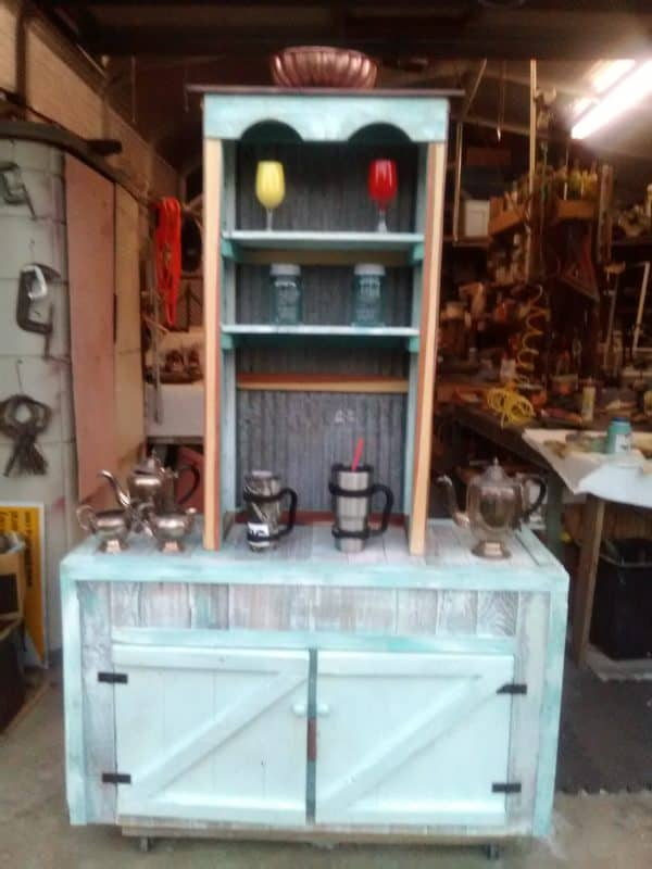Coffee Bar & Base Cabinet From Recycled Pallets 5 • Recycled Pallets