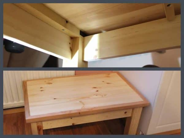"""""""Dinner Table"""" for a Big Dog from Reclaimed Kid's Bed 1 • Recycled Furniture"""