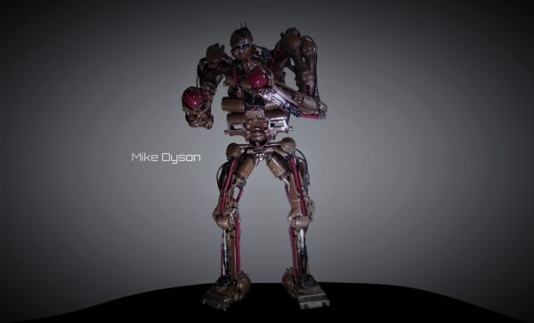 Mike Dyson, the 3m High Robot Sculpture from Recycled Vacuum Cleaners 3 • Recycled Art