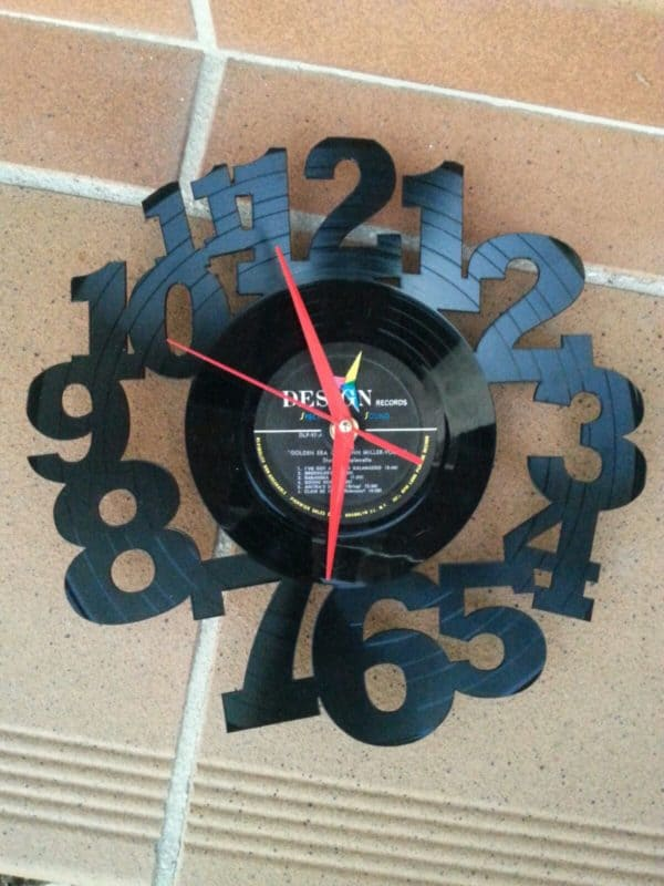 "Upcycled 12"" Vinyl Record Into Wall Clock 1 • Recycled Vinyl"