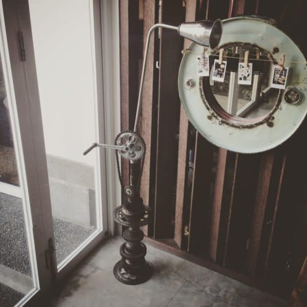Upcycled Motorcycle Parts Into Beautiful Floor Lamp 3 • Lamps & Lights