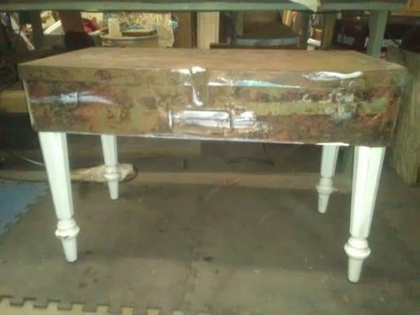 Vintage Metal Tool Box Coffee Table 1 • Recycled Furniture