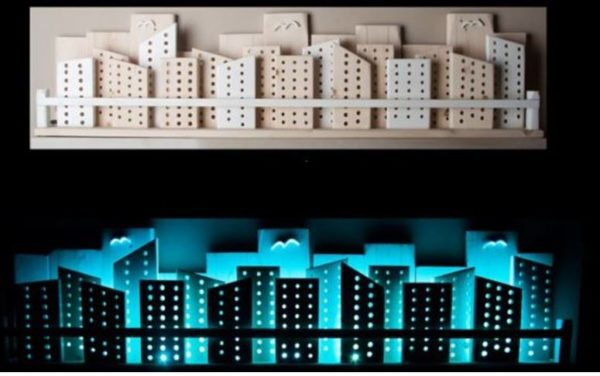 Recycled Wooden City Wall Art