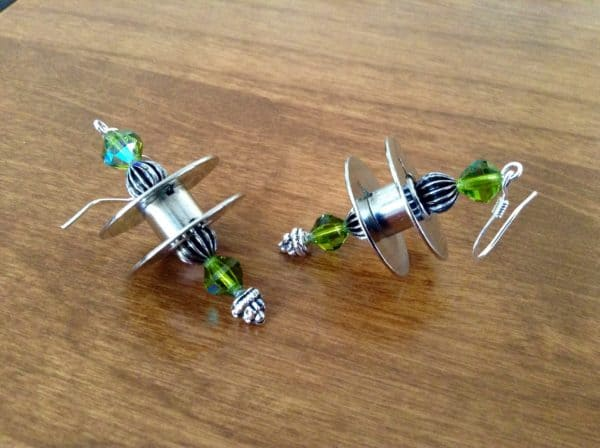 Sewing Machine Bobbins Into Earrings2