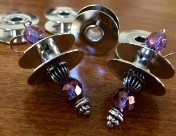 Sewing Machine Bobbins Into Earrings