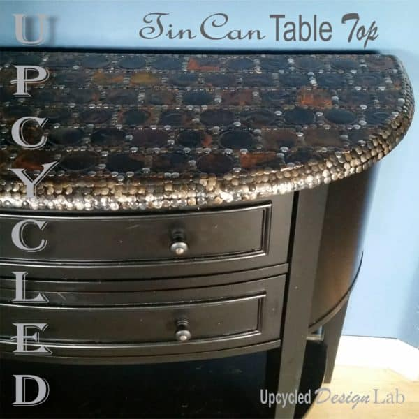 Upcycled Tin Can Lid Table Top Cover Up - Episode 4 of Dogs Vs Cats 1 • Recycled Furniture