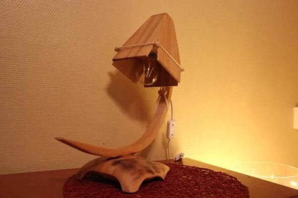 Wooden Lamp from One Left over Wooden Board 1 • Lamps & Lights