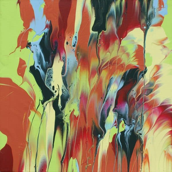 Video Tutorial: Leftover House Paint Abstract Art 9 • Recycled Art