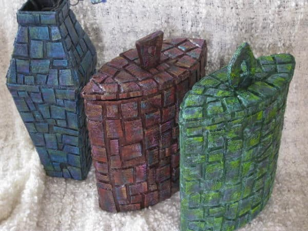 Cardboard Mosaic Containers Are Amazing! 7 • Recycled Packaging