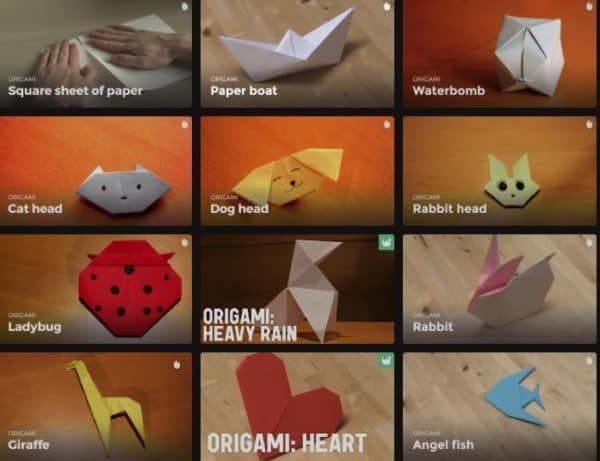 Learn Origami Techniques starting from basics, to water bombs, cat, dog, rabbits and more.