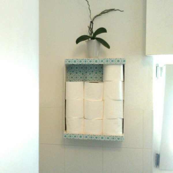 Fruit Box Becomes Decorative Toilet Paper Storage 1 • Recycled Packaging