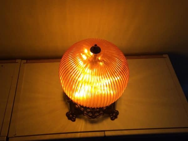 Funky Orange Globe Night Light Or Bedside Table Lamp 5 • Lamps & Lights