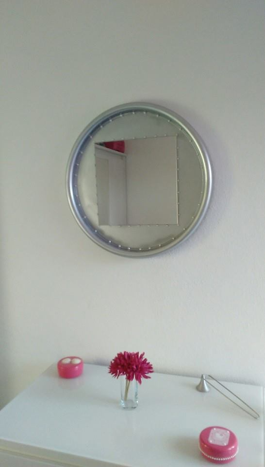 Upcycled Mirror For Daughter's Room Or Bathroom Vanity 3 • Recycled Furniture