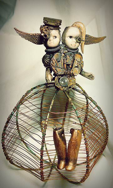 Upcycled Doll Projects - dark, twisted, and hauntingly beautiful sculpture that includes dolly parts.