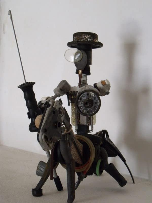 Don Quijote De La Mancha Upcycled Scrap Sculpture 1 • Recycled Art