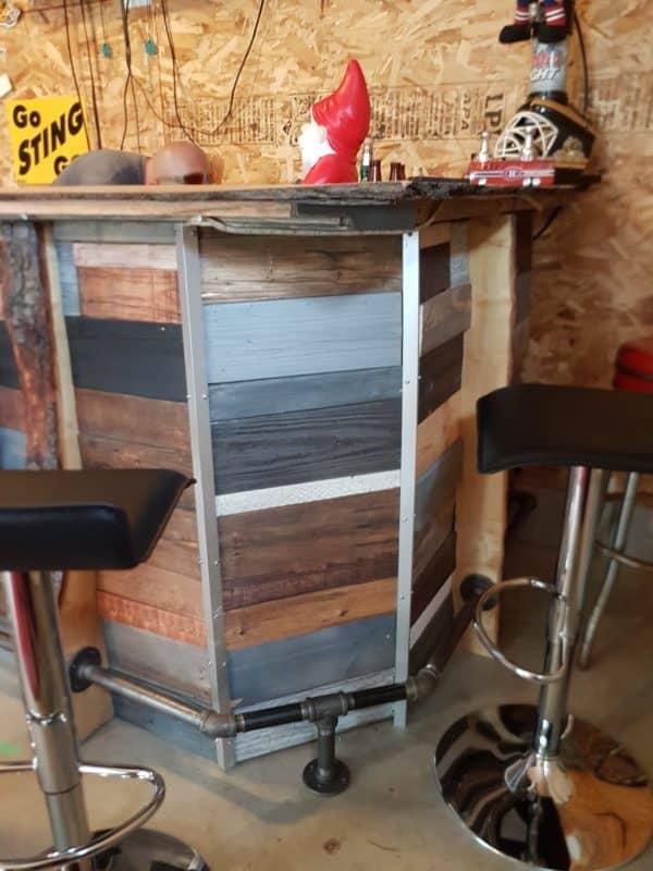 Led-lit Fractal-burned Pallet Bar For Your Man Cave 5 • Recycled Pallets