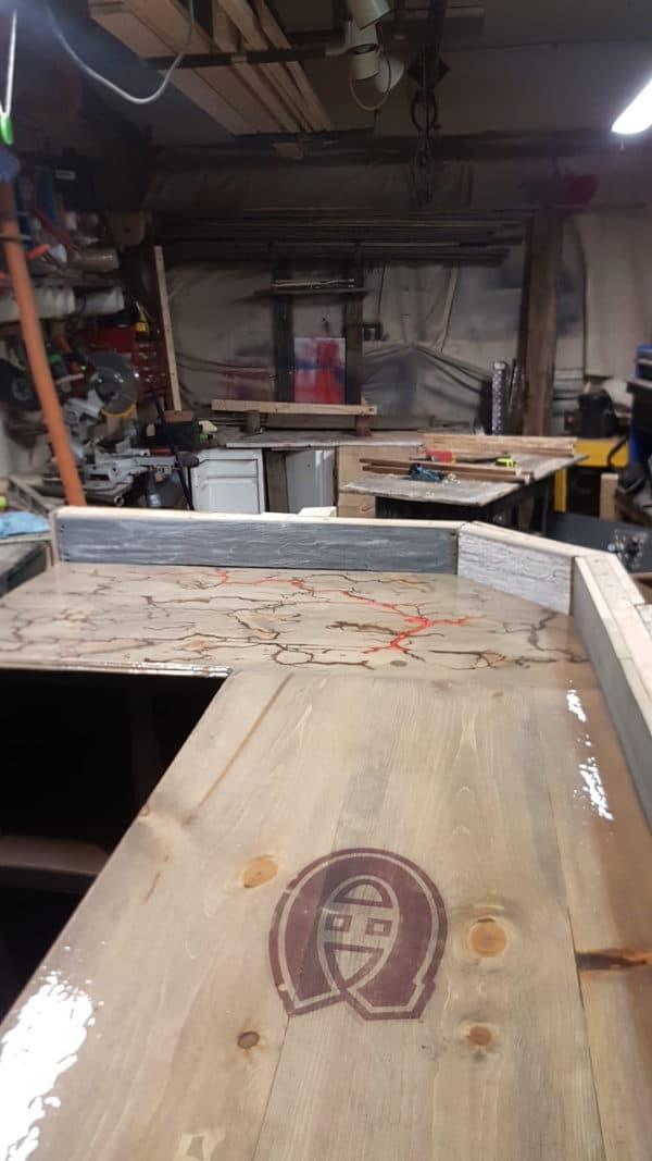 Led-lit Fractal-burned Pallet Bar For Your Man Cave 13 • Recycled Pallets