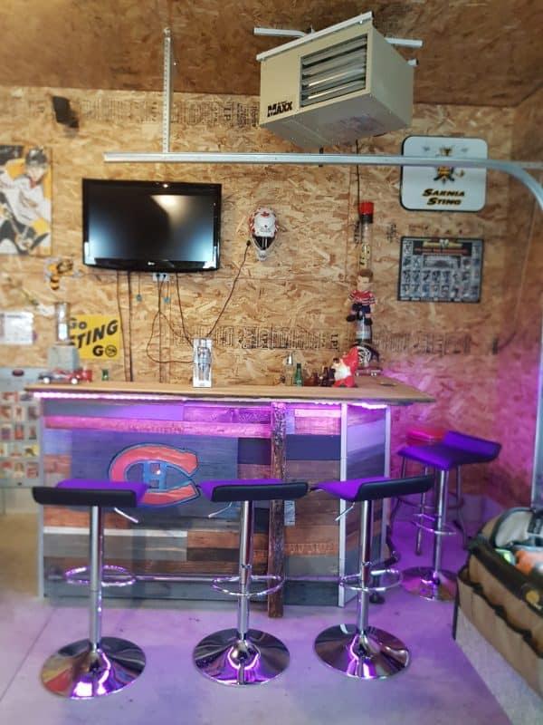 Led-lit Fractal-burned Pallet Bar For Your Man Cave 3 • Recycled Pallets