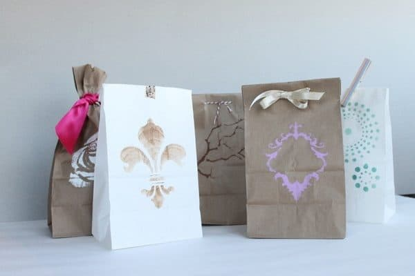 Wrapping Ideas like turning paper bags into gifts is great!
