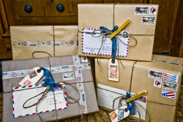 "Wrapping Ideas - get creative and empty out your ""junk drawer"" with office supplies used as gift wrapping!"
