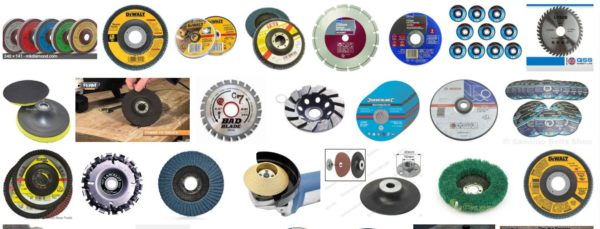 When using an Angle Grinder, you've got lots of disc options for all types of work!