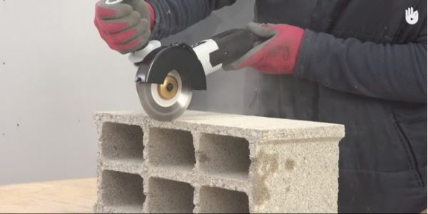 An Angle Grinder will make quick work of cutting finder blocks, pavers and more.