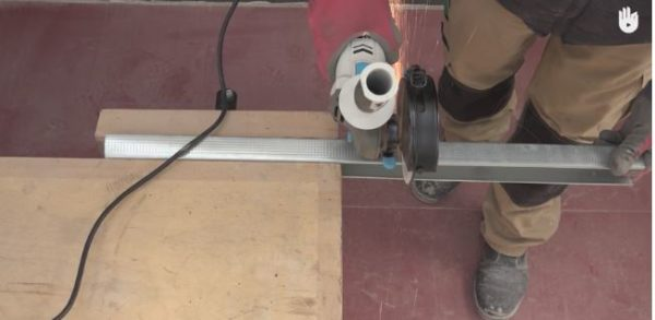 An Angle Grinder makes quick work of metal cutting chores.