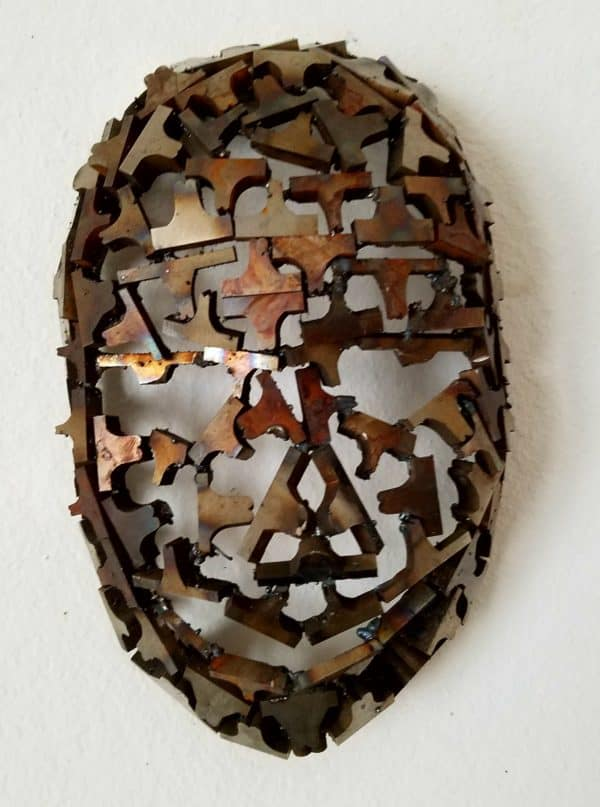 Upcycled Metal Mask Sculpture From Machine Shop Cutoffs! 1 • Recycling Metal