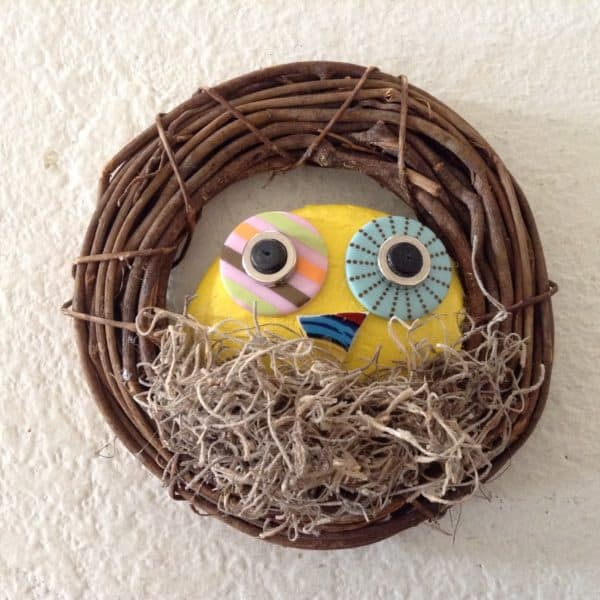 Upcycled Owls like this single Botts Dot Owl would charm the humans into the trees.