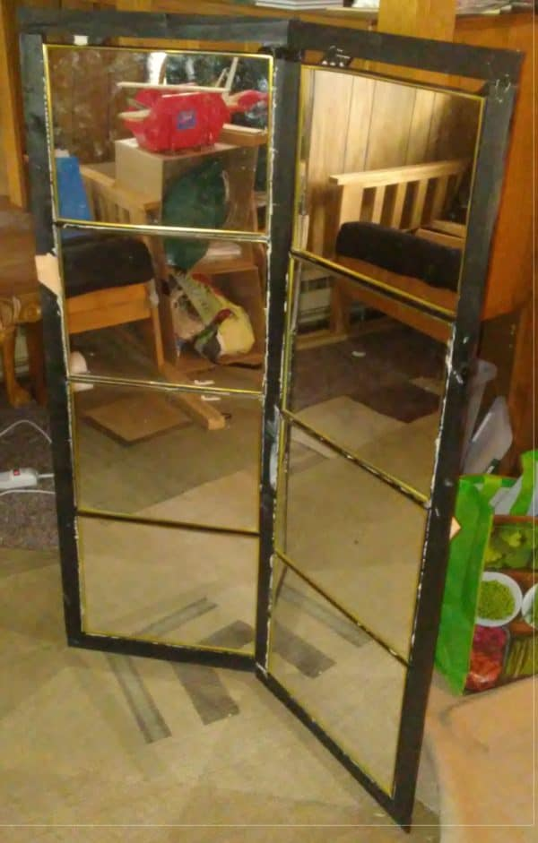 Even when you mis-measure, you can have a happy accident like with this Upcycled Mirror Frame.