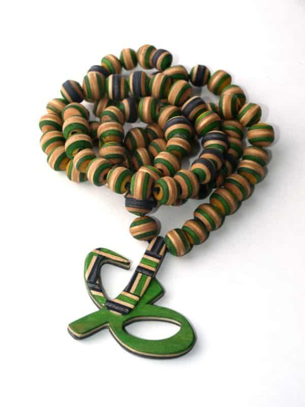 Beads From Skateboards make gorgeous folk art!