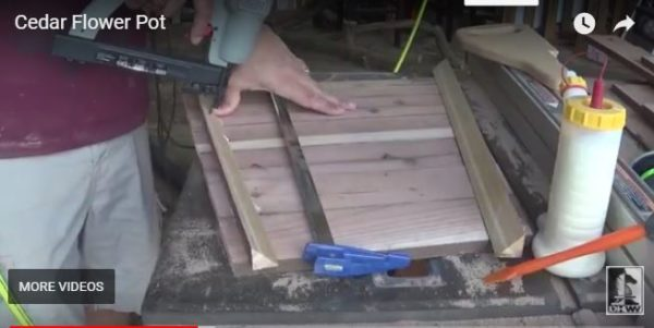 Make this Reclaimed Cedar Flower Pot easily with only a few basic tools, including a table saw.