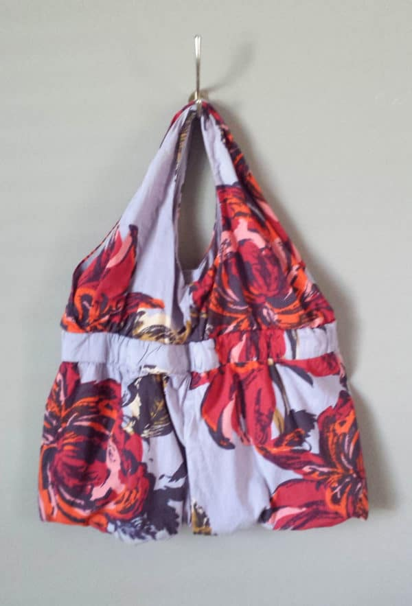This bag from a dress is a great Sewing Month Project.