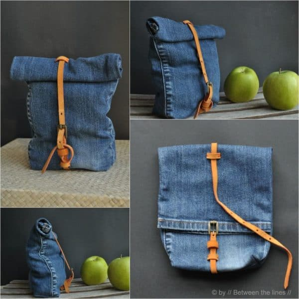 Make jeans snack bags. A great Sewing Month Project.