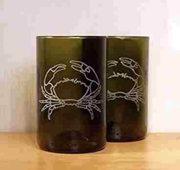Upcycled Etched Glasses Made From Bottles 6 • Recycled Glass