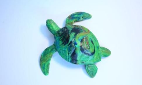 Each of our Recycled Plastic Turtles are very unique, and limited designs will be made. Only 40 will be produced.