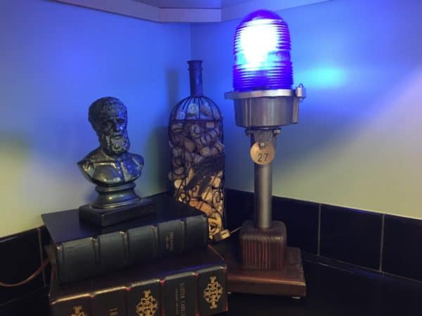 Turn old runway lights into this Upcycled Aviation Lamp.