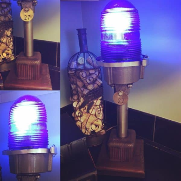 My finished Upcycled Aviation Lamp.